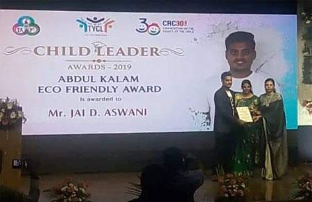 <b>Abdul Kalam Eco Friendly Awardee</b><br>