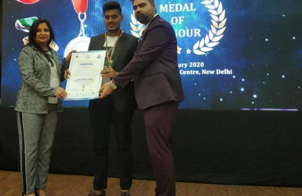 Youth Peace messenger – Global Medal of Honour At Delhi