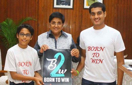 <b>Encouraged by Kiran Bedi</b><br>